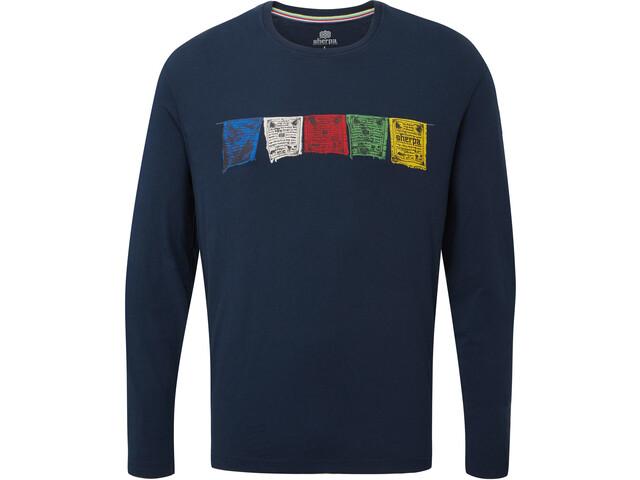 Sherpa Tarcho Miehet Pitkähihainen paita , sininen